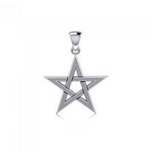 Star Pentacle Sterling Silver Pendant