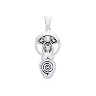 Star Goddess Sterling Silver Pendant