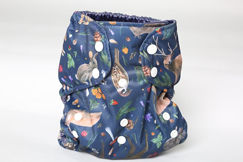 Frog and Bear All In Two Cloth Nappy Wrap