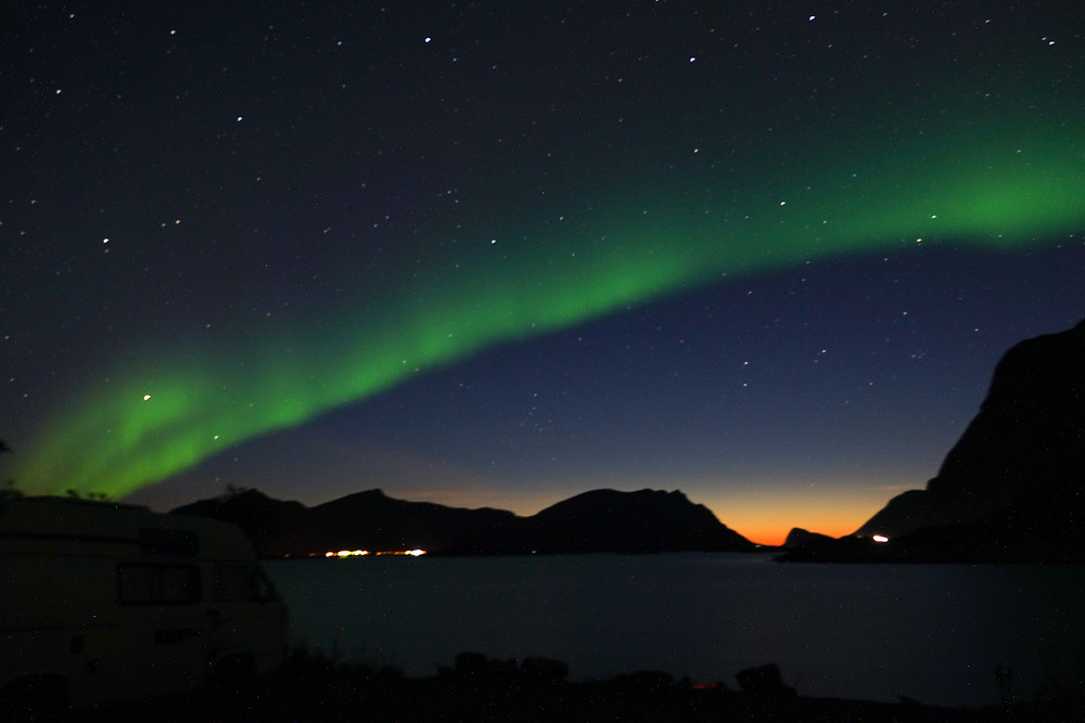 Northern lights early September Norway