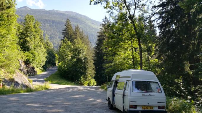 Wild camping Chamonix
