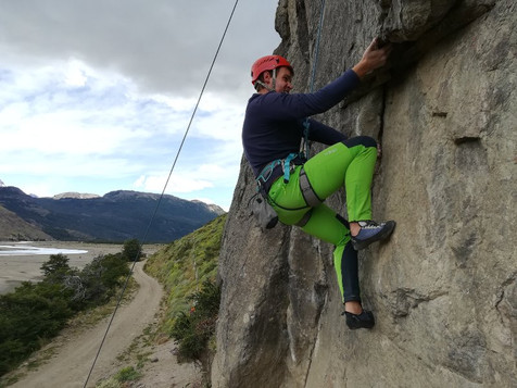 Rock climbing in El Chalten
