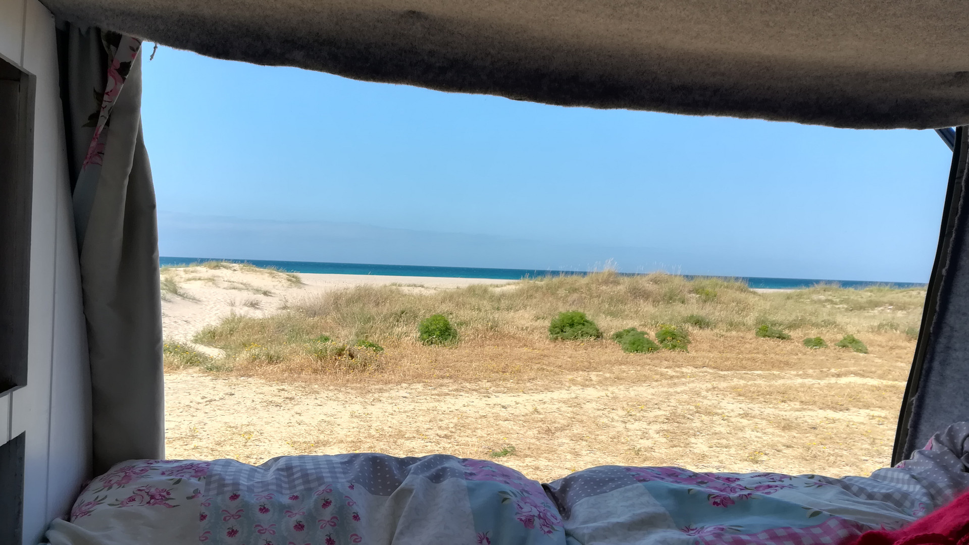 Camping on the beach, Tarifa