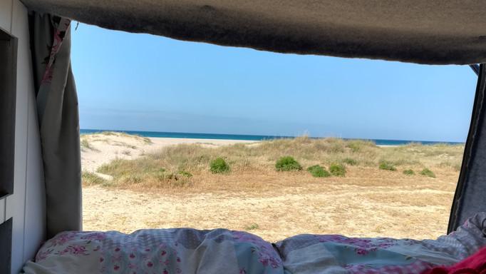Camping on the beach, Tarifa