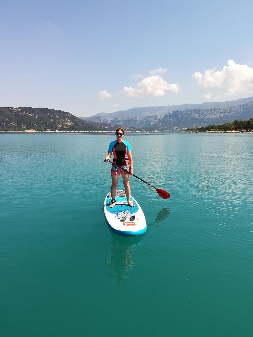 Paddleboarding at Sainte-Croix-de-Verdon