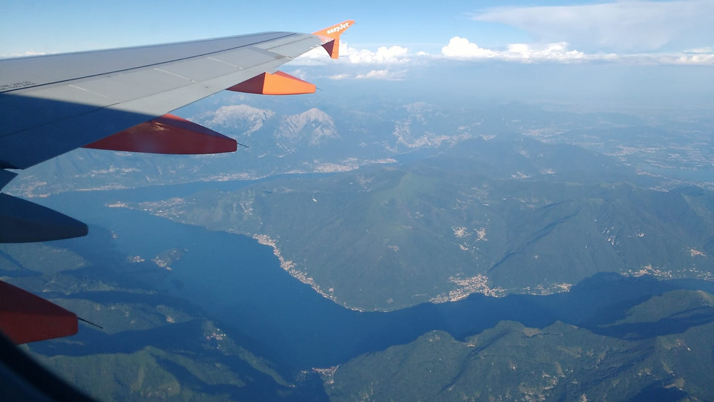 Lake Como view on my Easyjet Flight
