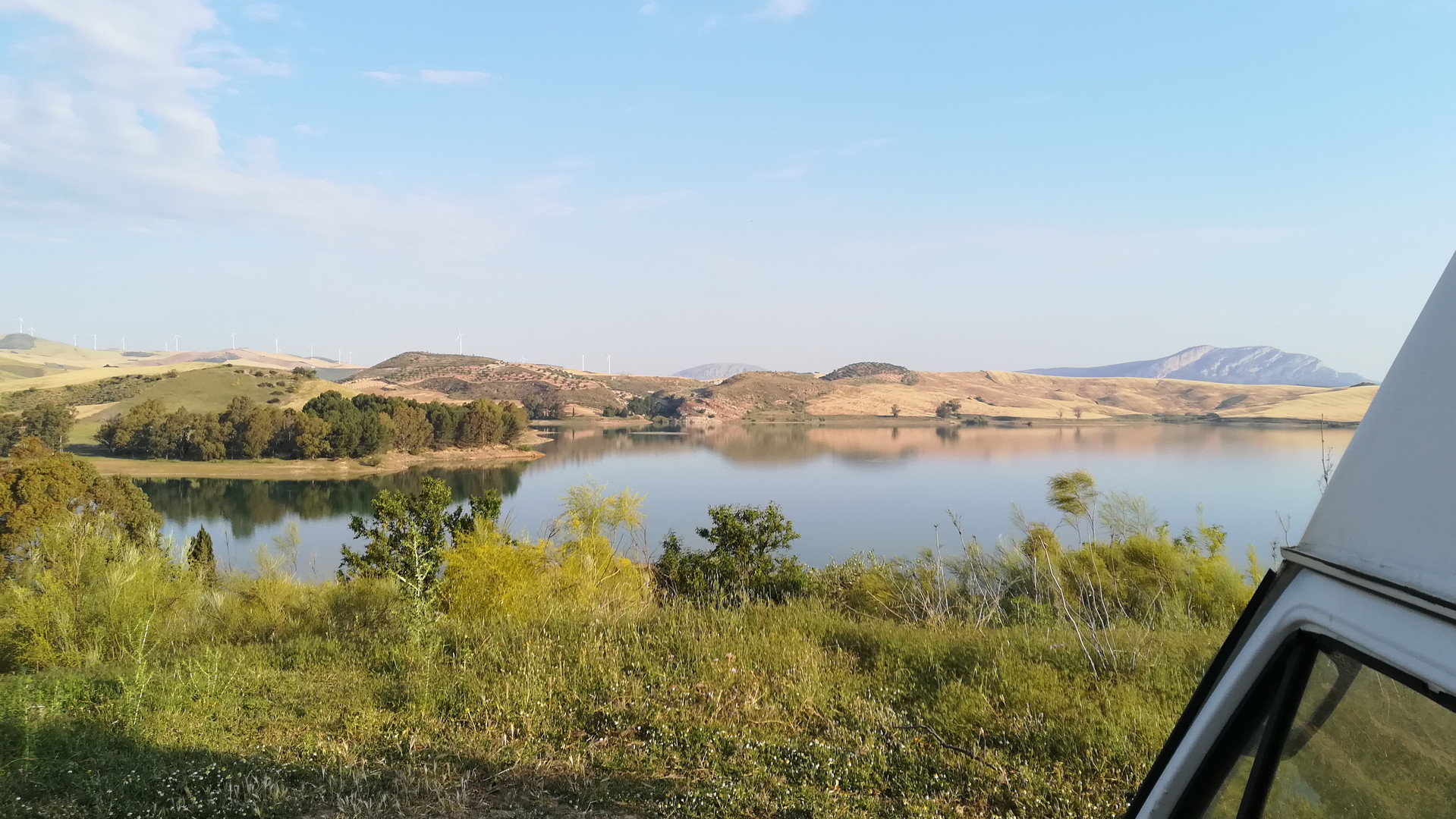 Wild camping in El Chorro