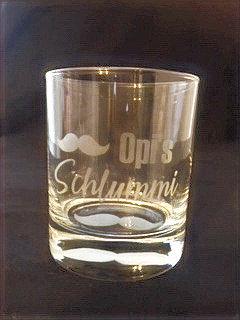 """Glas """"Opi's Schlummi"""""""