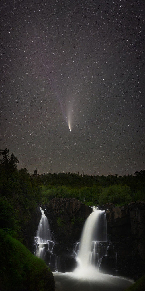 NEOWISE Waterfall