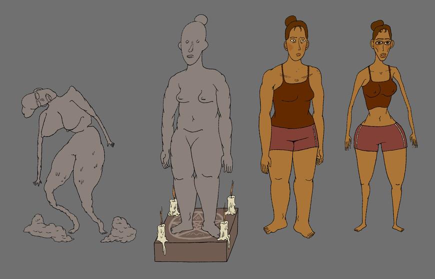 sculptor and sculpture character design