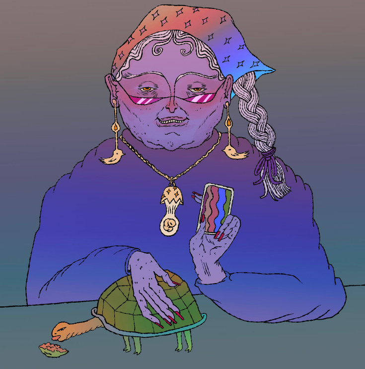 fortune teller character design