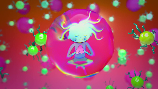 bubble person