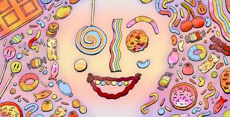 Candy Addiction Illustration