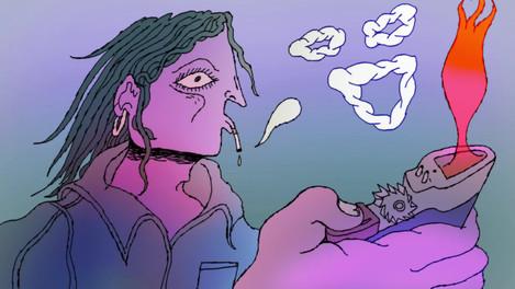 Smoking Girl Animation