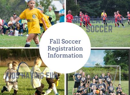 Fall Soccer Registration