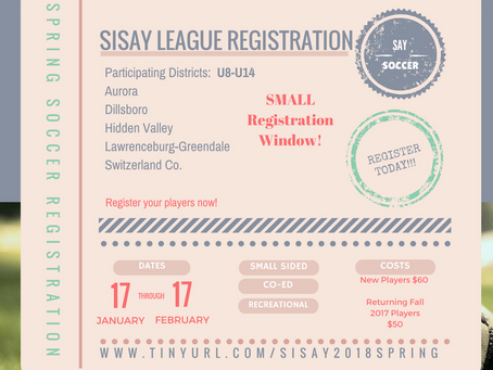 Spring League Registration is NOW OPEN!!!