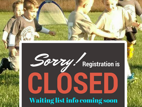 Spring Registration is CLOSED