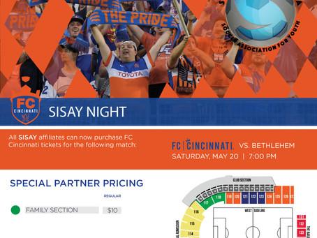 FC Cincinnati SISAY NIGHT