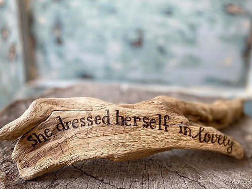 She dressed herself in lovely. -JLS