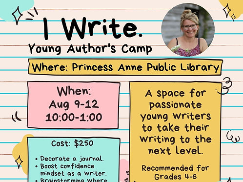Young Writer's Camp Aug 9-12