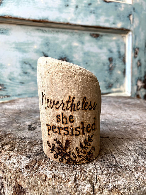 Nevertheless she persisted.