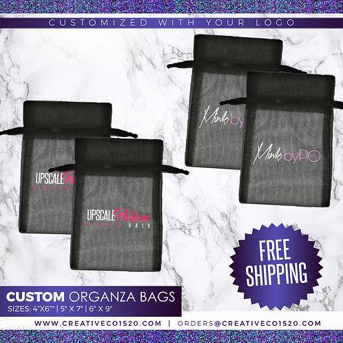 "Custom Sheer Eyelash Packaging Bag (4"" x 6"")"