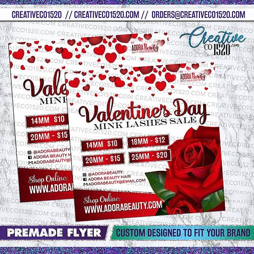Valentine Flyer - Lash Sale