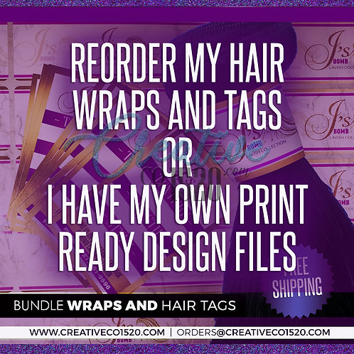 Printed Hang Tags and Bundle Wraps Package