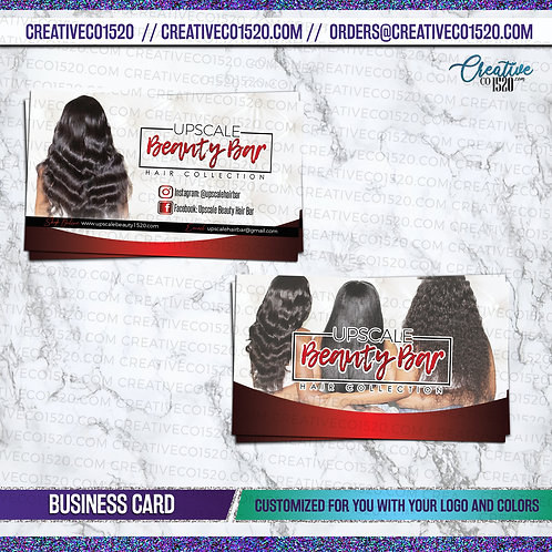 Virgin Hair Business Cards
