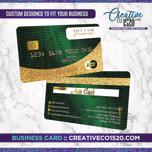 Credit Card Style Business Card 6