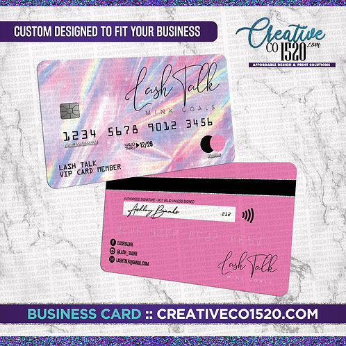 Credit Card Style Business Card 2