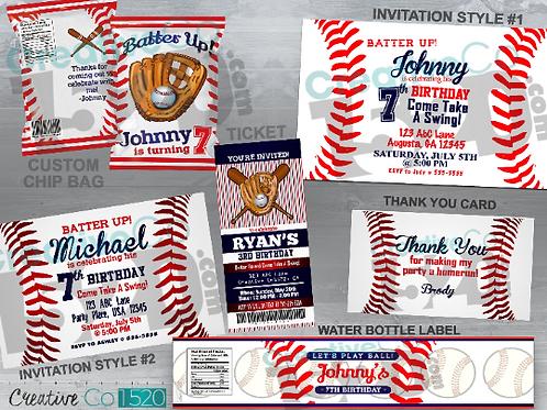 Printed & Shipped Baseball Party Items