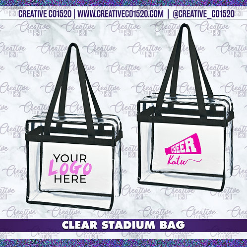 Custom Clear Stadium Bag