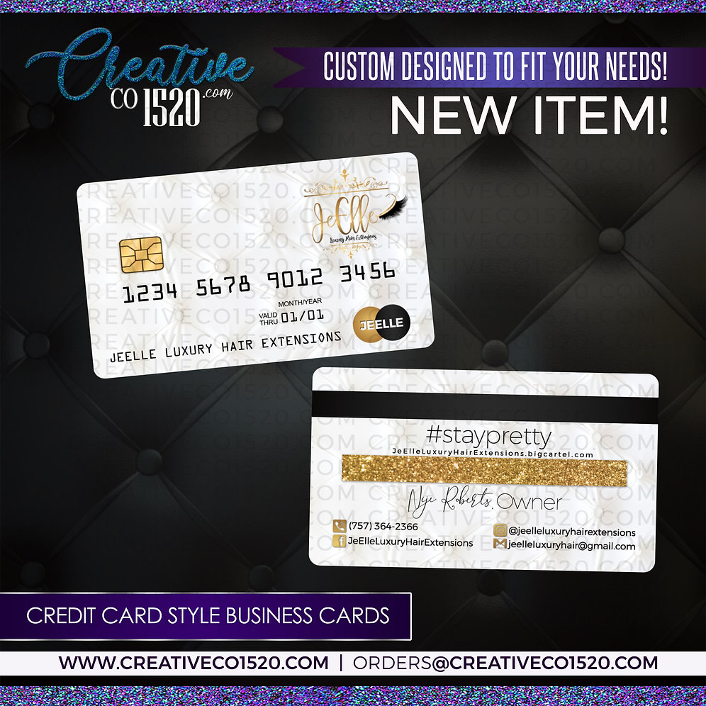 premium credit card style business cards  creative co1520