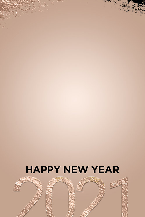 Happy New Year 2021 Freebie - Gold