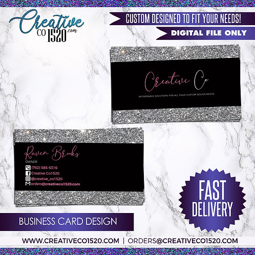 Glitter Business Card 1