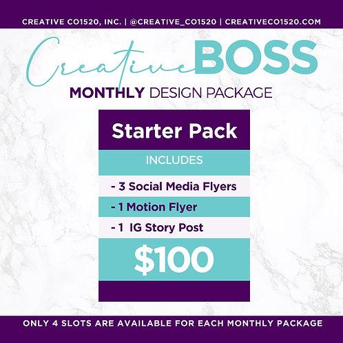 Monthly Design Starter Package