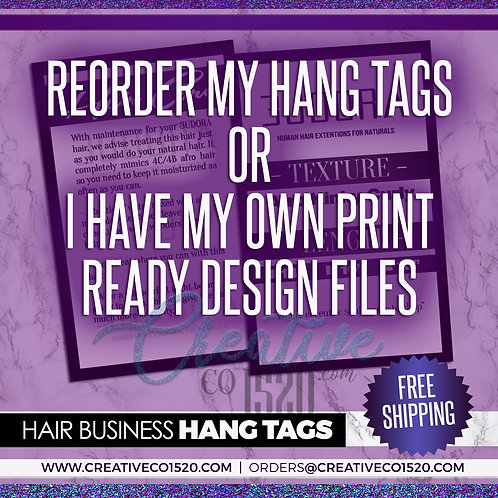 Printed Premium Hang Tags