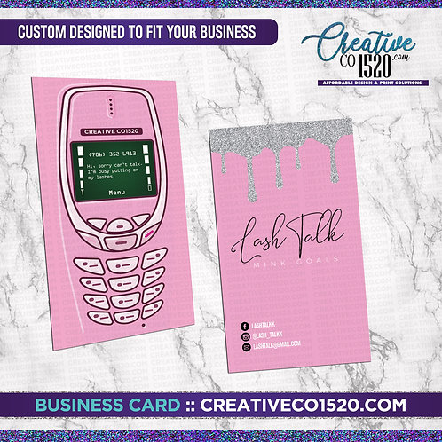 Retro Phone Style Business Card
