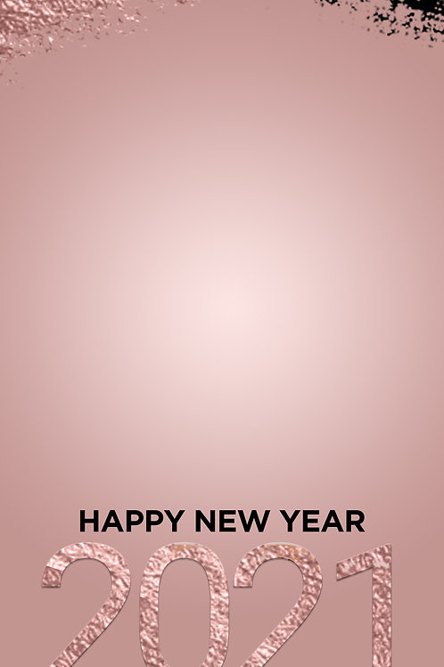 Happy New Year 2021 Freebie - Rose