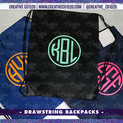 Custom Drawstring Backpack
