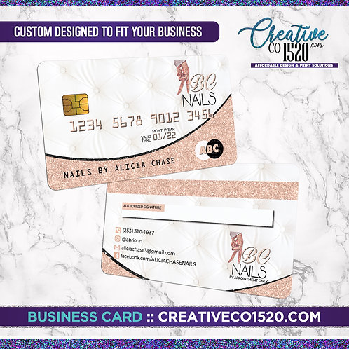 Credit Card Style Business Card 4