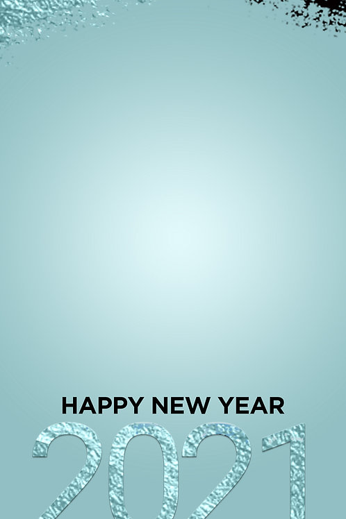 Happy New Year 2021 Freebie -Blue