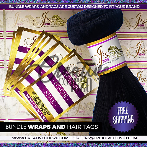 Custom Hang Tags and Bundle Wraps Package