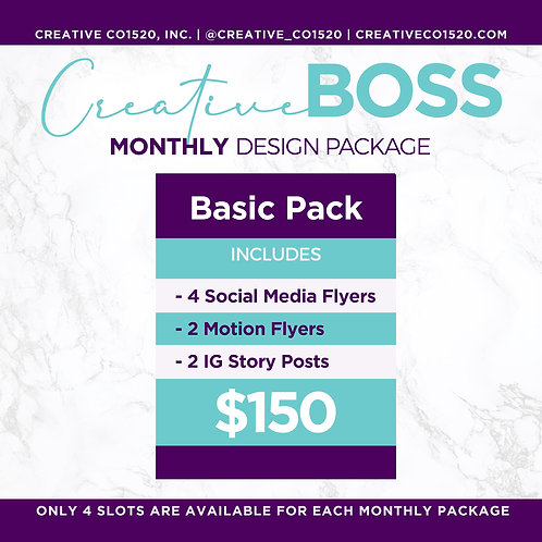 Monthly Design Basic Package