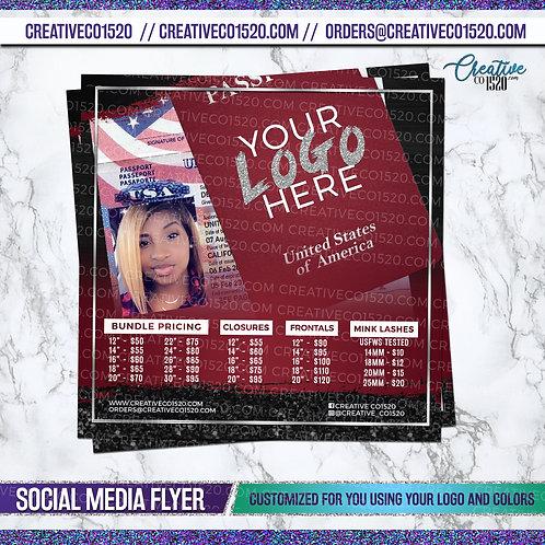 Passport Themed Business Flyer
