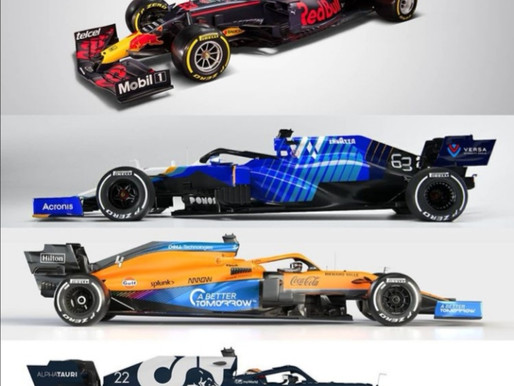 2021 - the evolution of the F1 cars