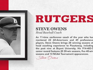 Steve Owens Named Head Baseball Coach