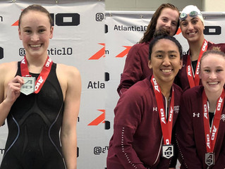 Women's Swimming & Diving Finishes Third at A-10 Championship
