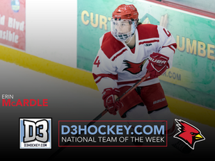 Erin McArdle Tabbed to D3hockey.com National Women's Team of the Week